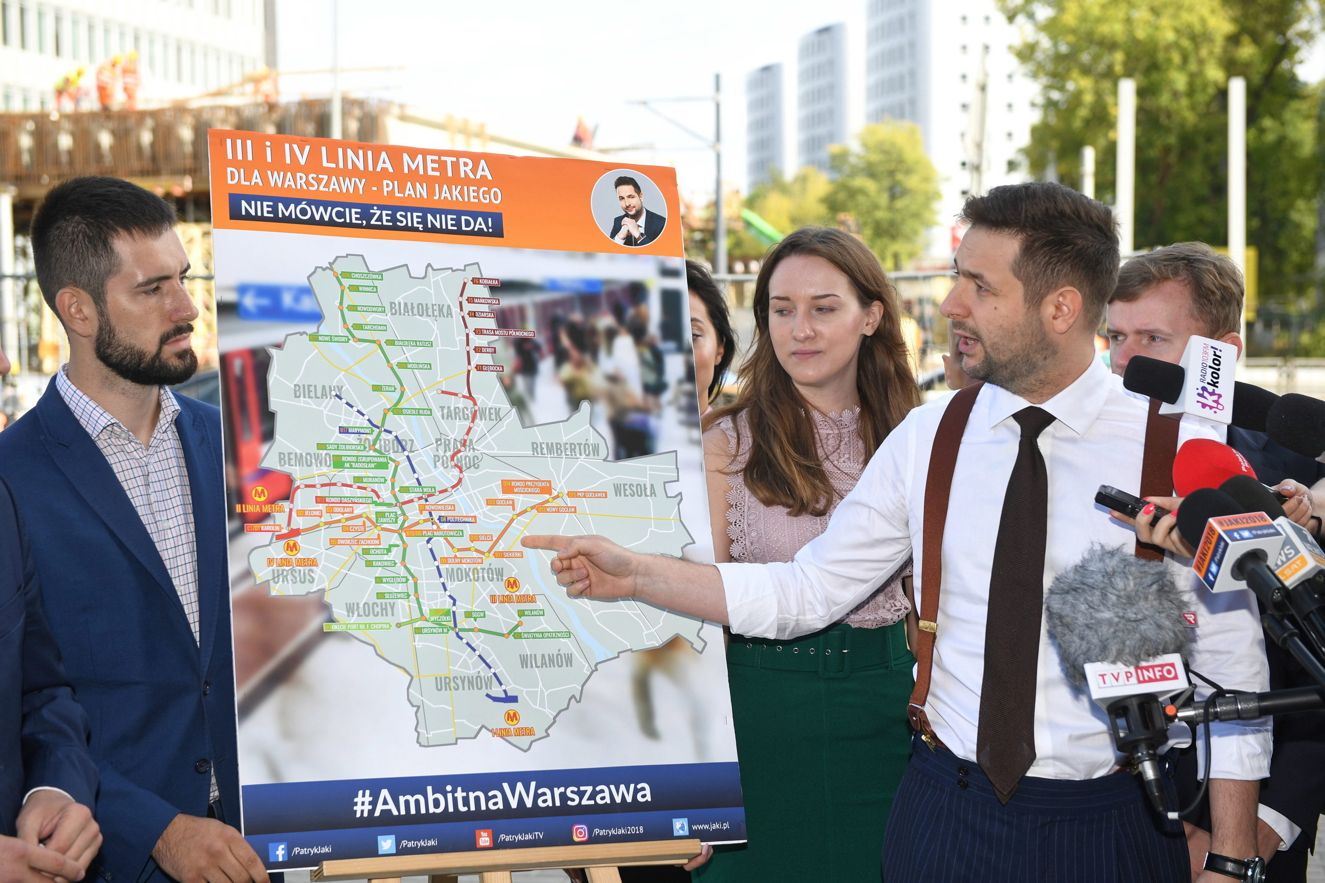 Jedną z podstawowych obietnic wyborczych Patryka Jakiego jest zbudowanie III i IV linii metra.